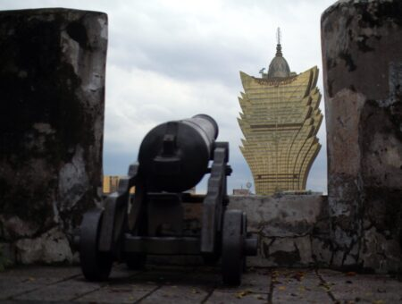 Macau. Company Sq and Monte Fort